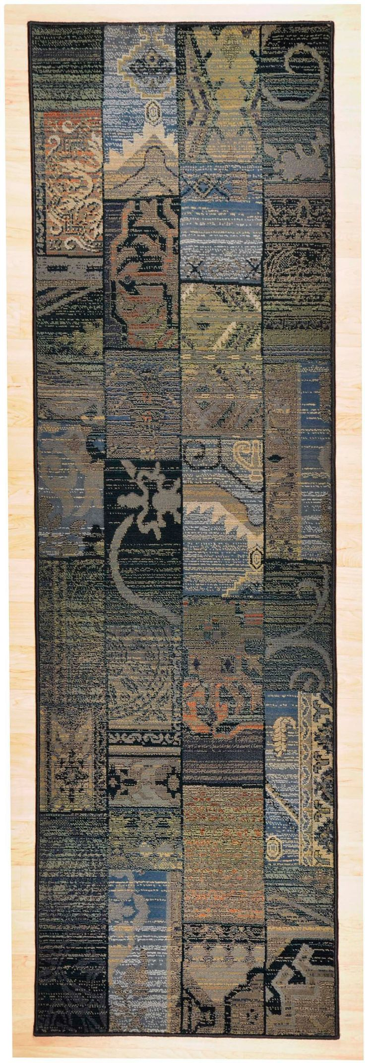 Oriental Weavers Läufer »Gabiro 5504« blau, B/L: 68x235cm, 12mm, strapazierfähig, Ökotex100 zertifiziert Jetzt bestellen unter: https://moebel.ladendirekt.de/heimtextilien/teppiche/laeufer/?uid=bbecec28-1850-5876-a627-6d6015149f54&utm_source=pinterest&utm_medium=pin&utm_campaign=boards #laeufer #heimtextilien #teppiche