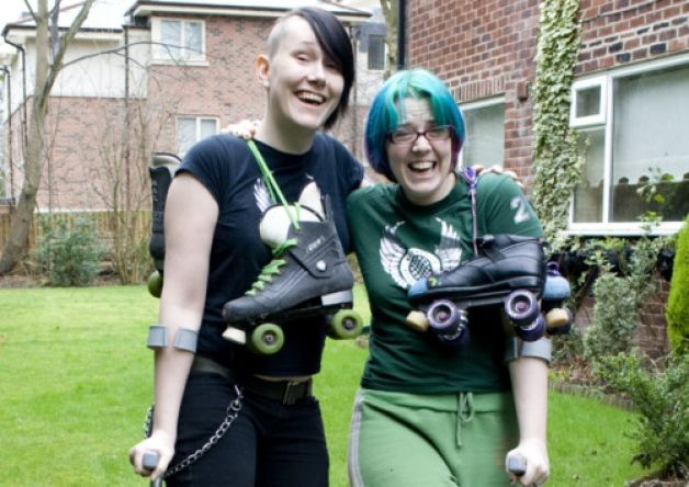 Duo's roller derby breaks not really a laughing matter. Chorley Guardian, feb 2013