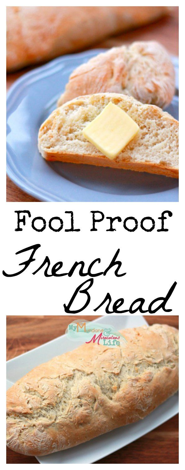 Four Ingredient Easy French Bread. Seriously, no one can mess this up and it's crazy delicious! No sugar either!