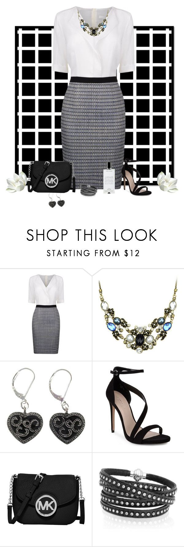 """Friday Night Date"" by cindy-for-fashion ❤ liked on Polyvore featuring BOSS Black, Carvela, MICHAEL Michael Kors, Sif Jakobs Jewellery and Agonist"