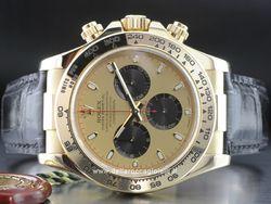 Rolex - Cosmograph Daytona 116518 Cassa: oro giallo - 40 mm Vetro: zaffiro Bracciale: pelle Chiusura: fliplock Movimento: automatico