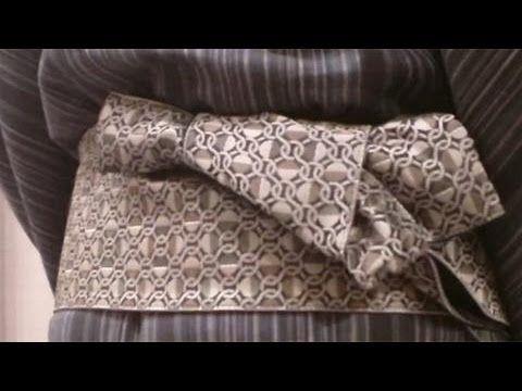 男性の浴衣 腰ひもや帯の結び方、着崩れた時の直しは? - YouTube