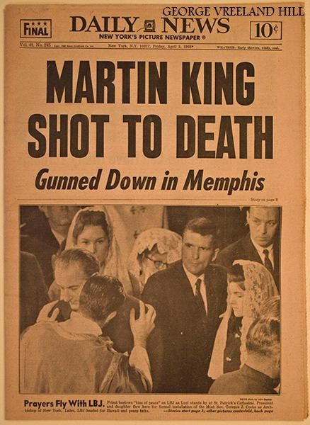 The New York Daily News, April 5, 1968 issue. The day after Dr. Martin Luther King, Jr.'s assassination.