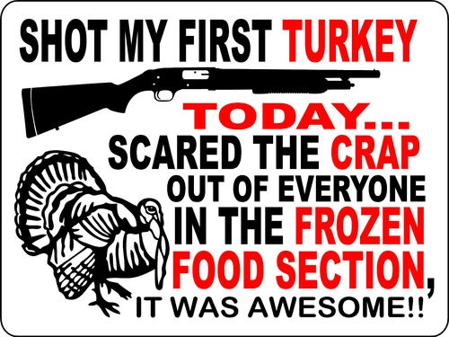 """Previous pinner """"My dad used to take my turkey hunting in our local grocery store with pop guns. He even made me a license. It was so much fun."""""""
