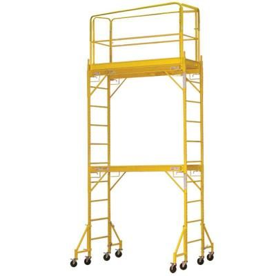 PRO-SERIES 12 ft. 2-Story Rolling Scaffold Tower with 1000 lb. Load Capacity-800364 - The Home Depot