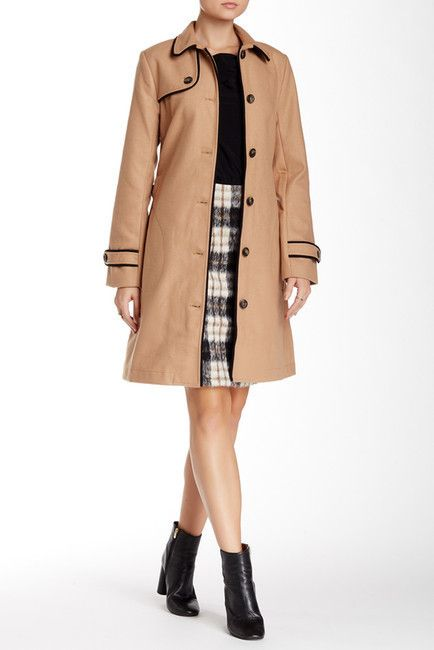 $119, Julie Brown Trench Coat. Sold by Nordstrom Rack. Click for more info: https://lookastic.com/women/shop_items/342084/redirect