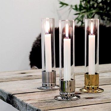 Ljusstakar Kattvik med stormglas