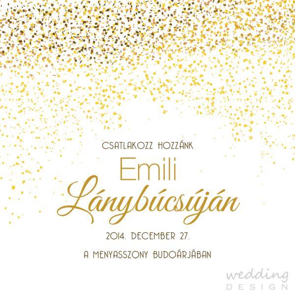 Invitation card for bachelorette party - Lánybúcsús meghívó Graphic/Grafika: Wedding Design