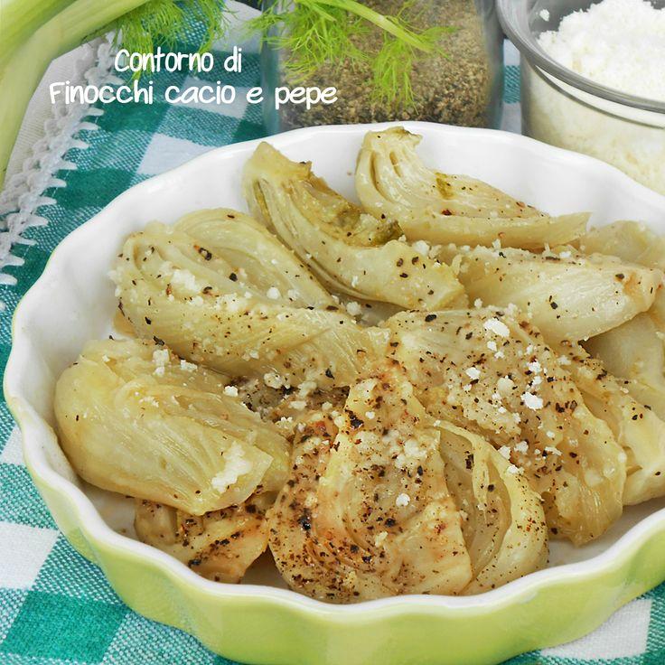 Contorno di finocchi cacio e pepe, una ricetta molto saporita e semplice che accompagnerà le vostre pietanze. Speciale con le carni, pesci uova e salumi.