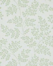 Coralie Leaf Green/Ivory från Sanderson
