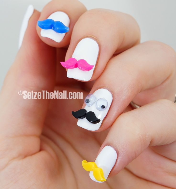Best 25 funky nail designs ideas on pinterest funky nails mustaches nail art prinsesfo Images