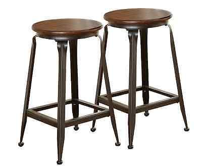 Pair Steve Silver Company Addison Bar Counter Stool 24