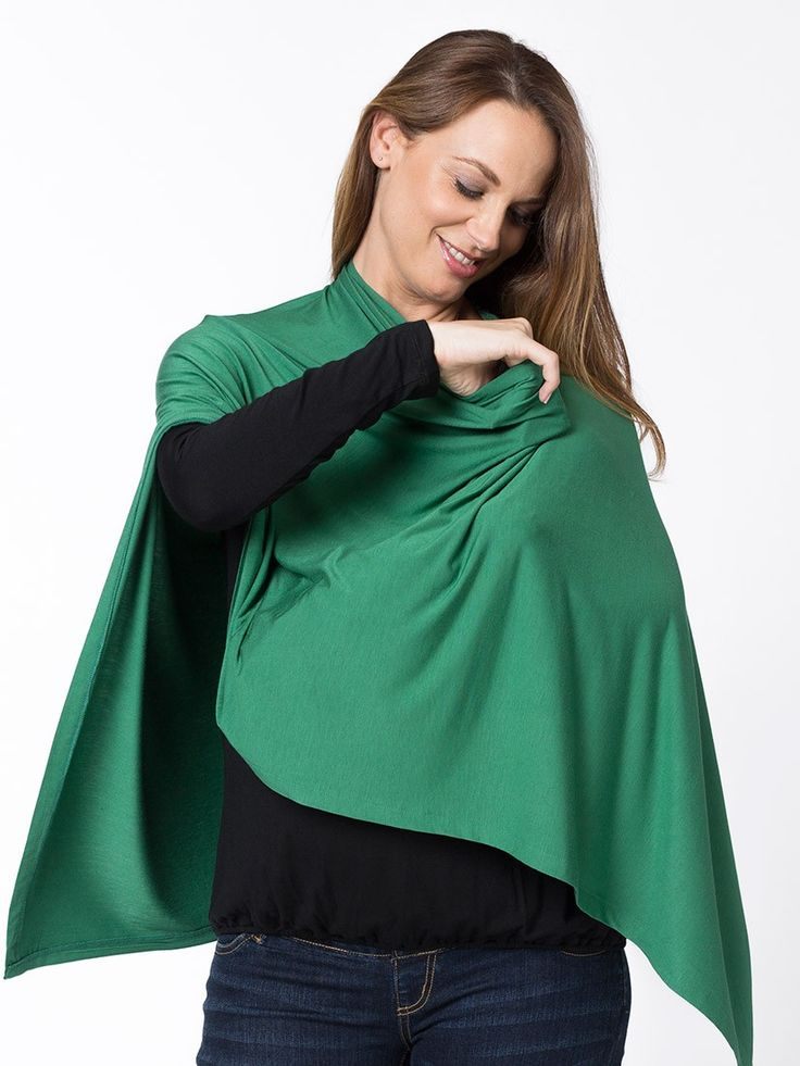 Multi-Wear Wrap from breastmates.co.nz -- This poncho-style top can be worn as off-shoulder top, toga, pashmina, bolero, wrap, shrug, cowl, a scarf, beach sarong, skirt, an emergency baby wrap, a buggy shade and a breastfeeding cover of course too.