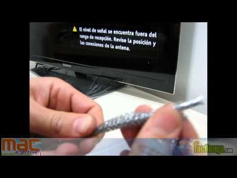 Antena TV digital casera, rápida y economica TDA HD - YouTube