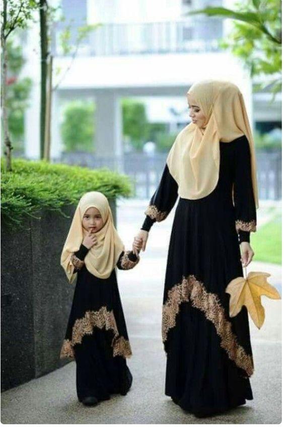 1. Black and gold enchantress abaya