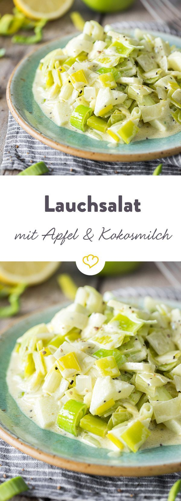 Fruity leek salad with apple and coconut milk  – Sommergemüse – Auberginen, Zucchini, Tomaten & Co
