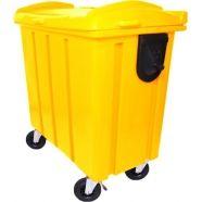 O Contentor de lixo de 700 litros é utilizado para coleta de resíduos orgânicos, seletivos, hospitalares e industriais. Seu volume nominal é de 700 litros.