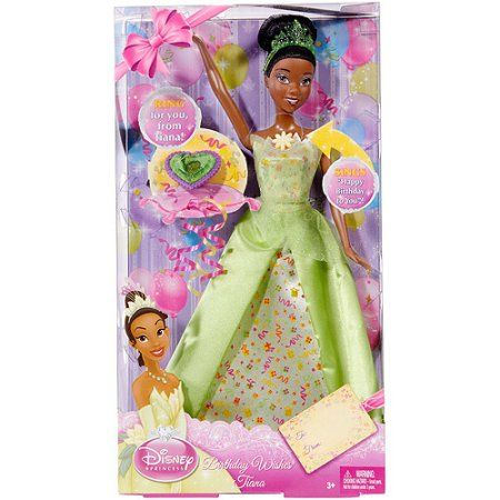 Disney Princess Birthday Wishes Tiana Doll Sings Happy Birthday with Ring