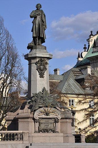Adam Mickiewicz - na placu Mickiewicza via Polskie Krajobrazy