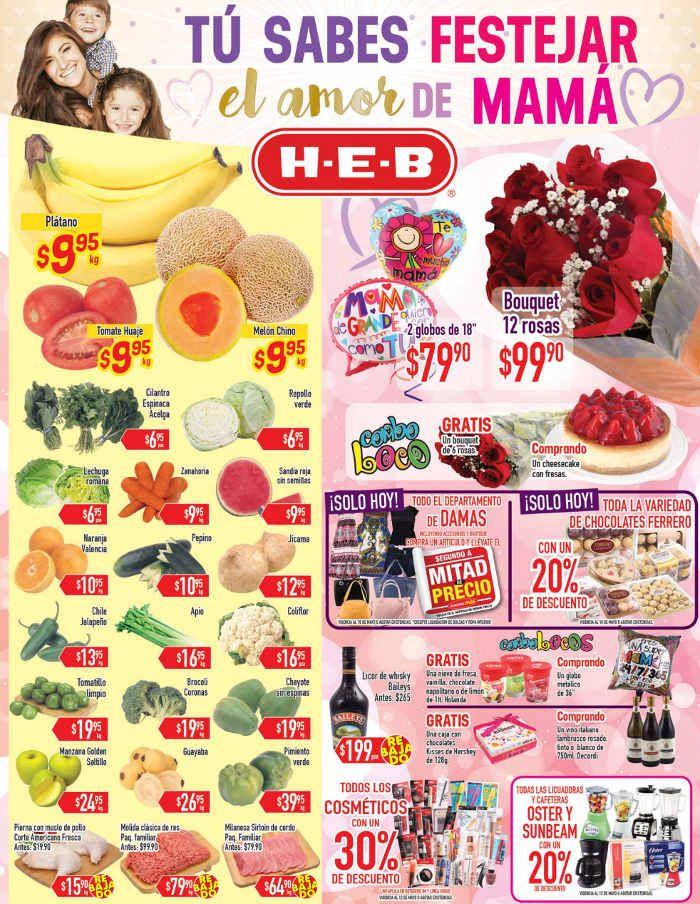 Frutas y verduras HEB Mayo