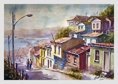 valparaiso casas botes pinturas - Buscar con Google
