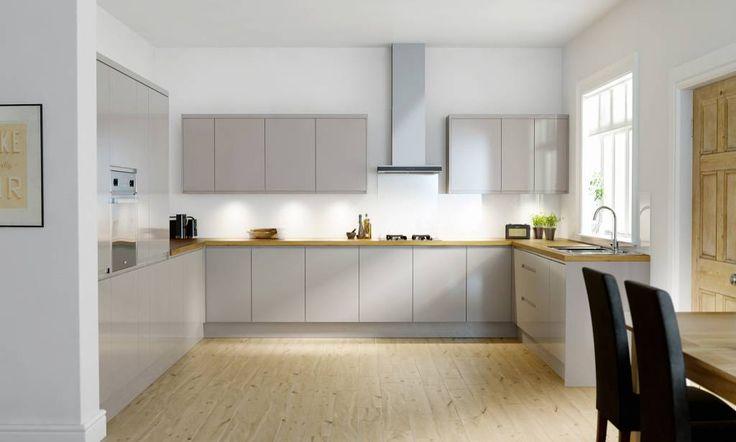 gray kitchen backsplash sink capacity handleless cashmere gloss image 1   meble ...