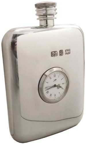 Sheffield Pewter 6 oz Plain Clock Flask (Made in UK) . $102.60