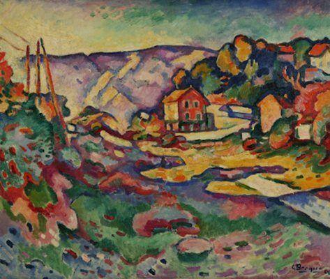 Paysage à l'Estaque (I), par Georges Braque (1906)  Couleurs vives