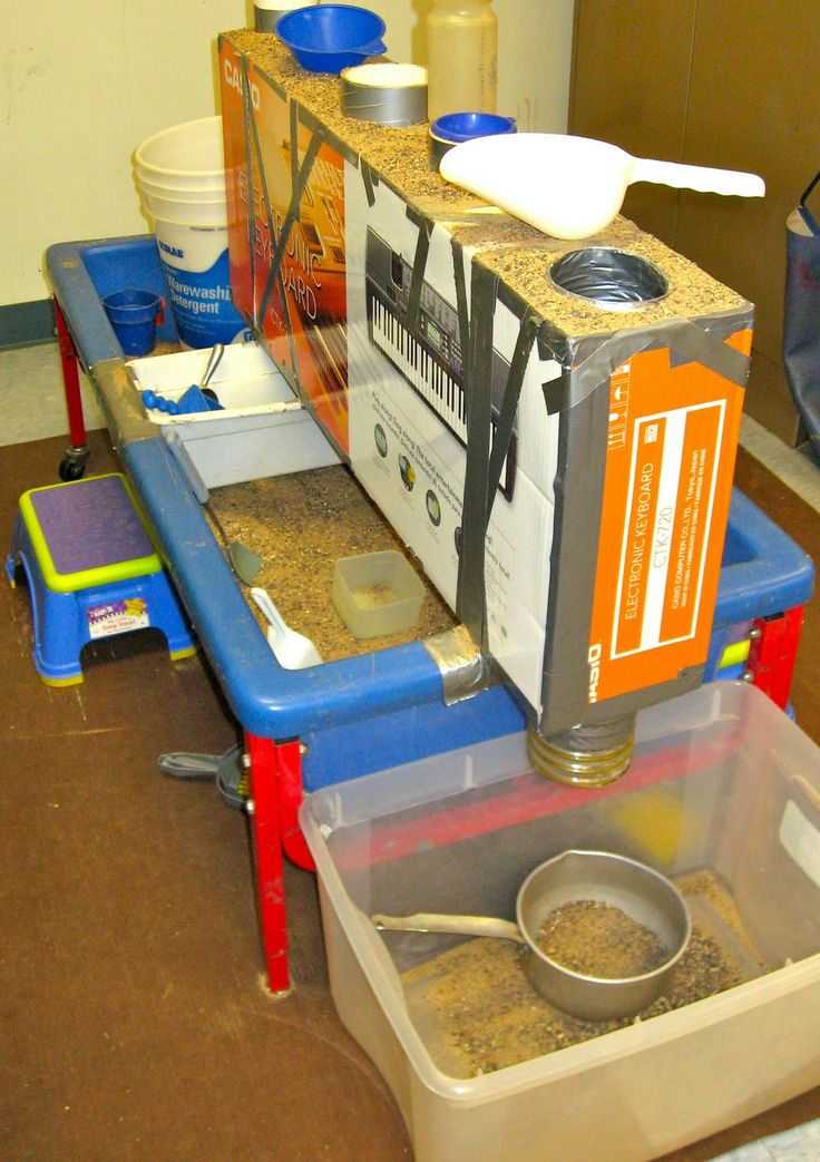 SAND AND WATER TABLES: VERTICAL TUBES IN A BOX