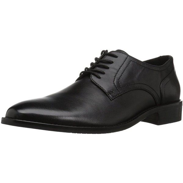 206 Collective Men's Concord Leather Plain-Toe Oxford ($110) ❤ liked on Polyvore featuring men's fashion, men's shoes, men's oxfords, mens leather oxford shoes, mens shoes, mens leather shoes and mens oxford shoes