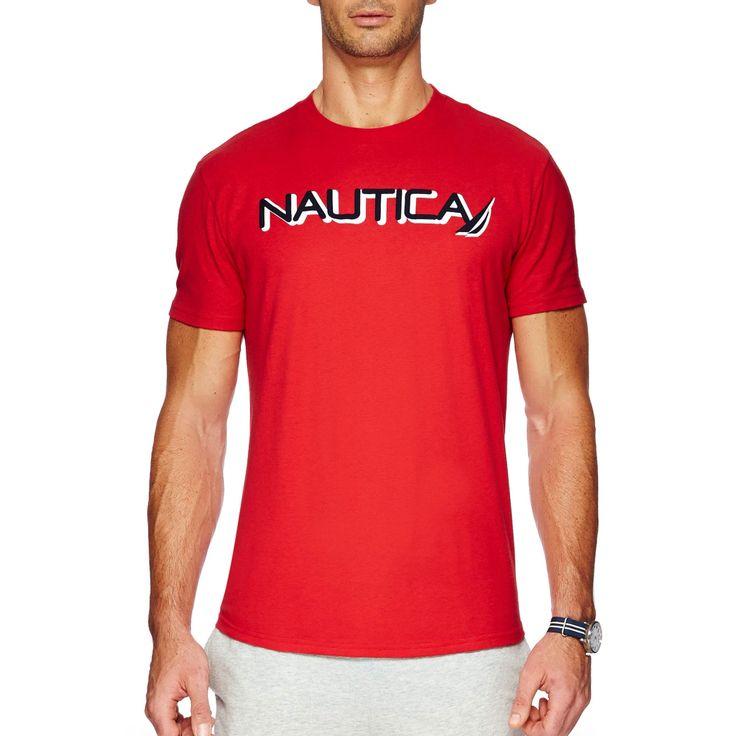 NAUTICA cn logo tee in Red