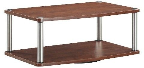 """Convenience Concepts Two Tier Swivel TV Stand Cherry 24"""""""