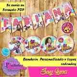 Etiquetas Escolares Personalizadas Imprimibles Soy Luna - Bs. 12.000,00