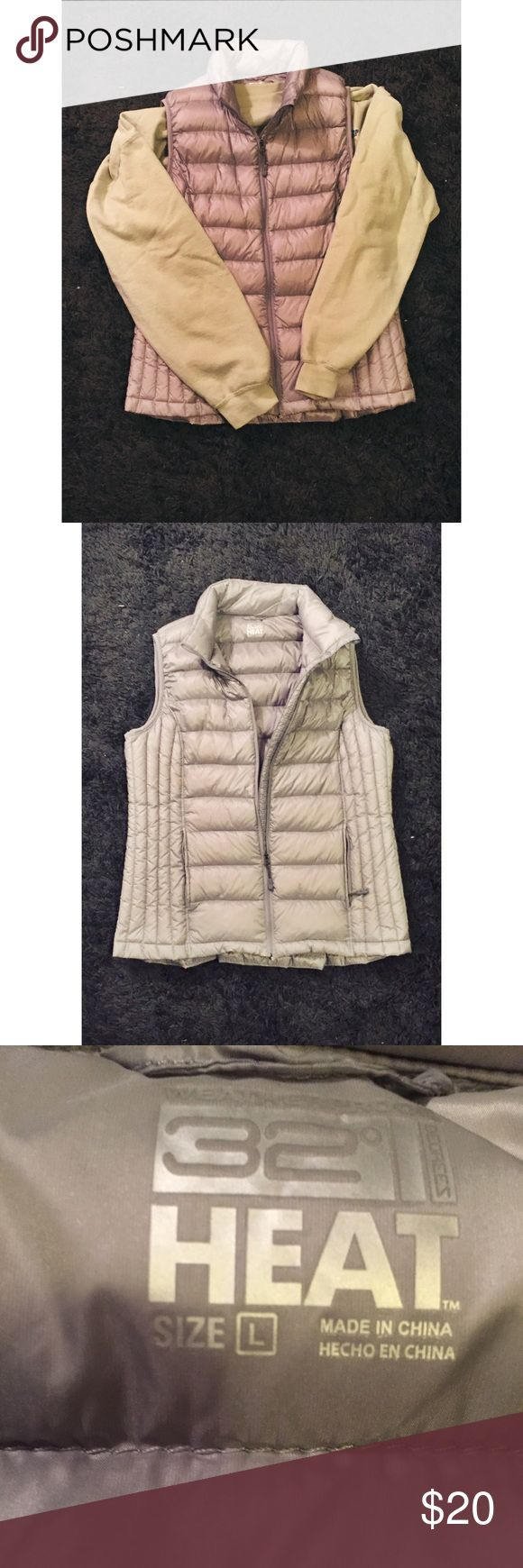Gray/Silver Vest 32 degree HEAT vest size Large. NWOT. In perfect condition Jackets & Coats Vests