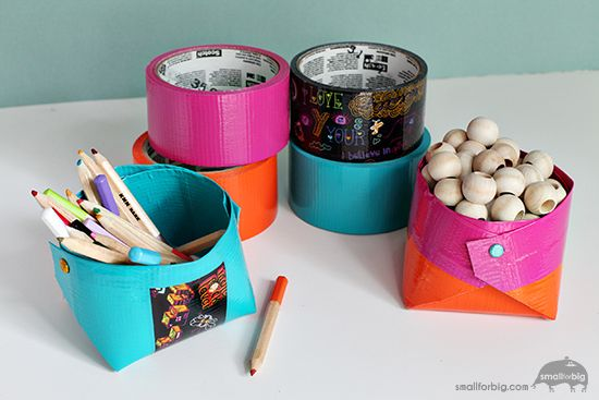 25 best ideas about duct tape storage on pinterest for Mini duct tape crafts