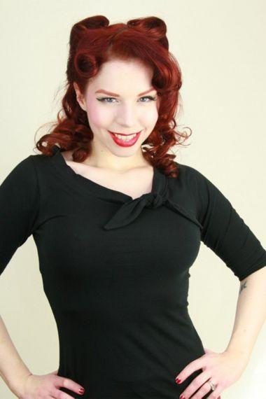 Kleding :: Blouses en topjes :: Zwart gebreid jersey topje - Heart of Haute