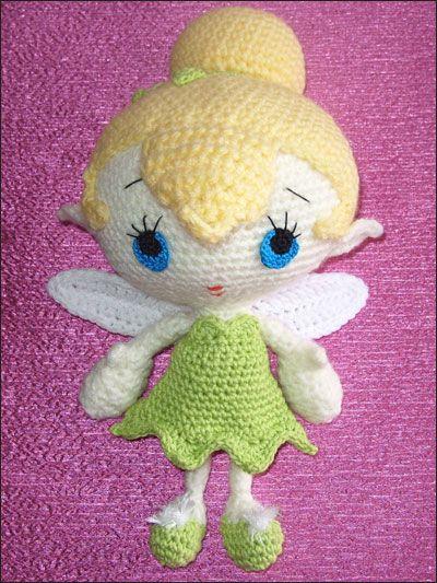 Cute little Amigurumi Tinkerbell! Hakeln Pinterest Toys, Tinkerbell and...