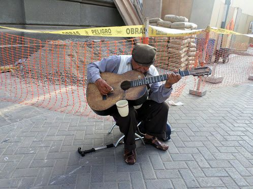 Manuel Pariachi, 72, performs a traditional Huayno song from his Andean homeland, Huancayo