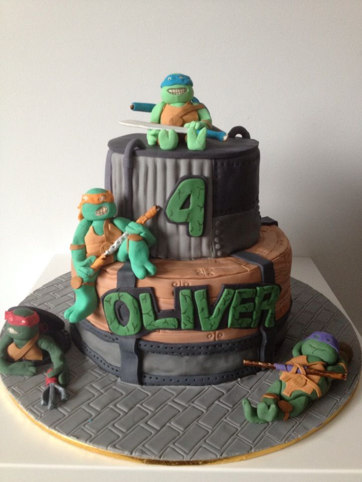 ninja turtle cakes ninja turtles turtle party 5th birthday birthday ...