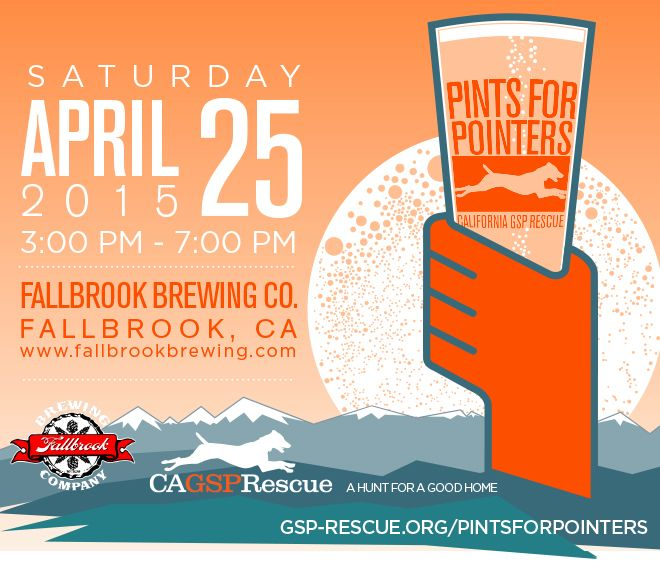 Pints for Pointers: A Fundraiser for CA GSP Rescue
