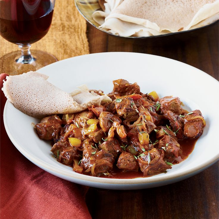 Made with tender lamb, this staple of Ethiopian home cooking is flavored with awaze sauce, a kicky blend of berbere spices, smoked paprika, mustard and red wine.