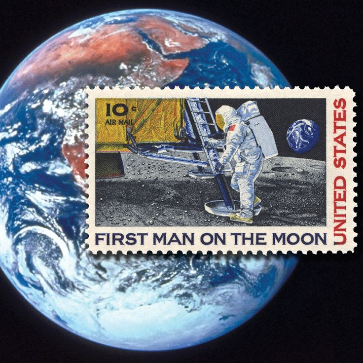"Set ""Man on the Moon"" as your computers wallpaper image. See this and the many other stamp fun wallpapers available from the American Philatelic Society (www.stamps.org)"