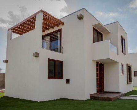Fachada casa de dos pisos de m s de 100 m2 planos - Modelos de casas de un piso bonitas ...