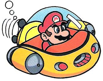 #Mario flying his #Spaceship in #SuperMario Land on Gameboy. Lots more Mario pics from Super Mario Land @ http://www.superluigibros.com/super-mario-land-artwork-and-pictures