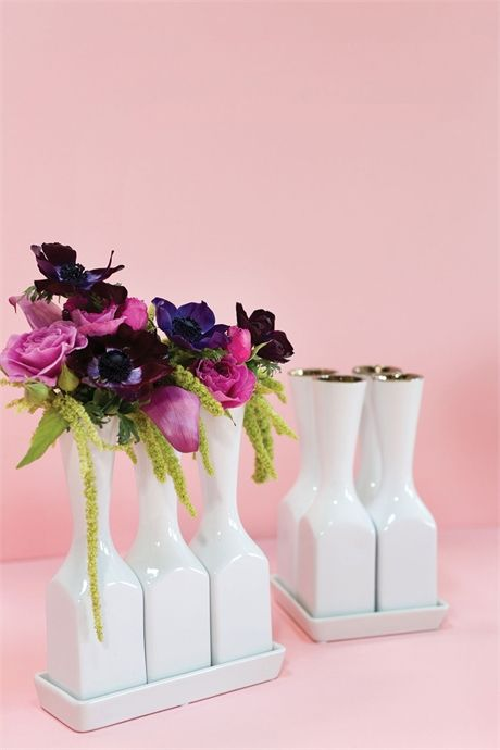 Chi Chi Bud Vases with Tray - wholesale vases for florists