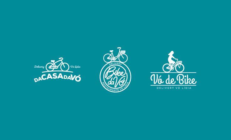 Propostas de logotipos para o Delivery do Restaurante Vó Lídia.