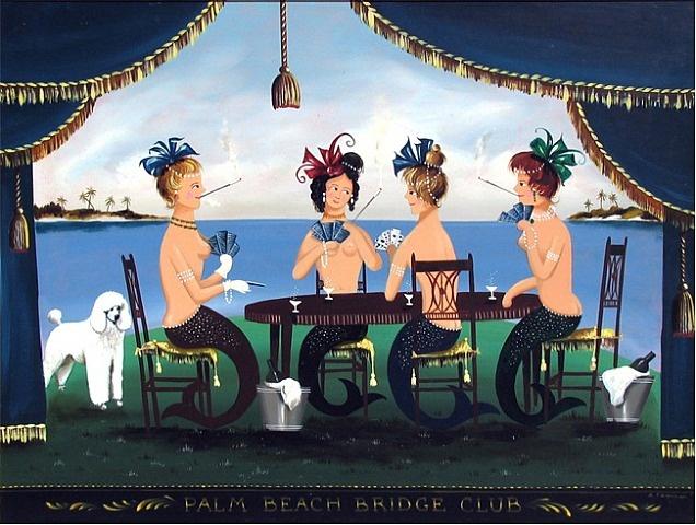 Ralph Eugene Cahoon Jr. - Palm Beach Bridge Club: Amazing Art, Martha Cahoon, Bridges Club, Palms Beaches, Ralph Cahoon, Beaches Bridges, Club Ralph, Cahoon Art, Ahoy