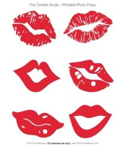 Lips for photo booth - free printables - maybe also for v.day cards?