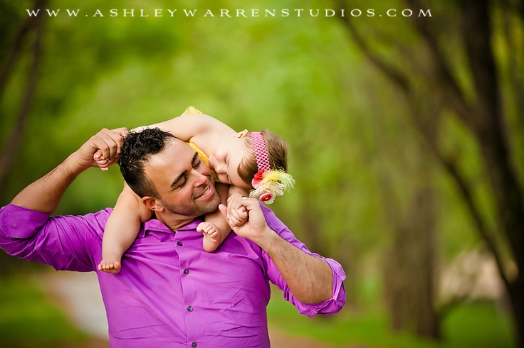 Babies and their Daddies are pretty great, too!  (Ashley Warren Studios)
