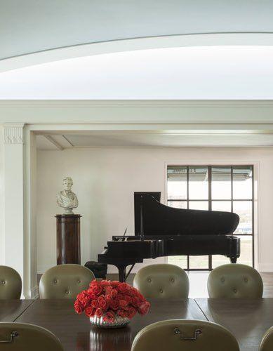 Interiors by Ken Blasingame, the Bush family's go-to design pro